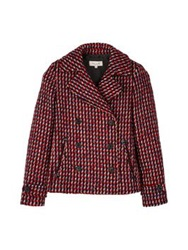 Paul And Joe Loury Checked Boucle Jacket Red Blue