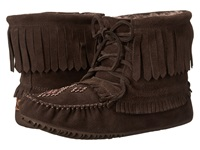 Manitobah Mukluks Harvester Moccasin Lined Chocolate Women's Boots Brown