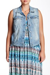 Jessica Simpson Pixi Denim Vest Plus Size Blue