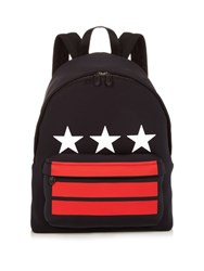 Givenchy Stars And Stripes Neoprene Backpack Black Multi