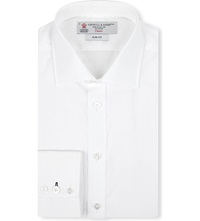Turnbull And Asser Regent Slim Fit Cotton Shirt Wht