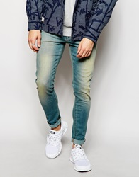 Asos Extreme Super Skinny Jeans With Tint Darkblue