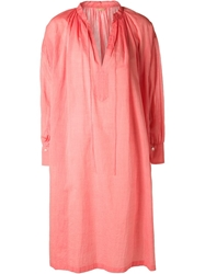 Arts And Science Long Pleated Tunic Red