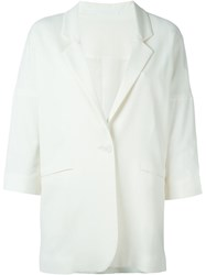 Tagliatore Three Quarter Sleeve Blazer White
