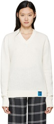 Raf Simons Cream Lambswool Sweater