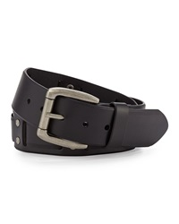 Will Leather Goods Men's Leather Woven Belt Black