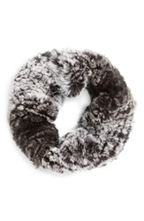 Toria Rose Women's Genuine Rabbit Fur Infinity Scarf
