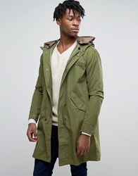 Pretty Green Winchester Parka In Oversized Fit Khaki Green