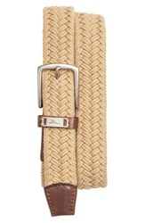 Men's Tommy Bahama Webbed Cotton Belt Khaki