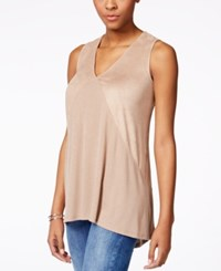 Styleandco. Style And Co. Faux Suede High Low Tank Top Only At Macy's
