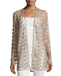 Bagatelle Faux Leather Leaf Jacket Taupe