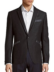 John Varvatos Austin Fit Blazer Grey Flannel