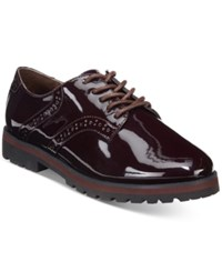 White Mountain Gilly Lace Up Oxfords Women's Shoes Plum