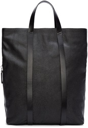 Cnc Costume National Black Leather Tote Backpack