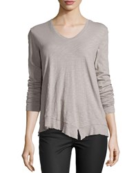 Jethro Slouchy High Low Long Sleeve Tee Elephant