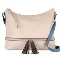 Radley Pickering Leather Large Across Body Bag Taupe