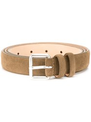 Closed Buckled Belt Green