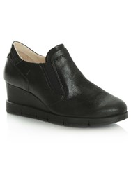 Daniel South Dakota Sporty Wedge Trainers Black Glitter