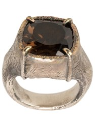 Tobias Wistisen Encrusted Ring Metallic