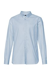 French Connection Men's Connery Oxford Stripe Shirt Light Blue
