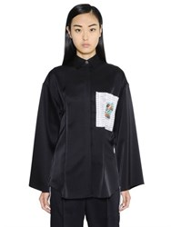 Loewe Logo Printed Patch Satin Shirt
