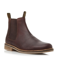 Barbour Slip On Casual Chelsea Boots Brown