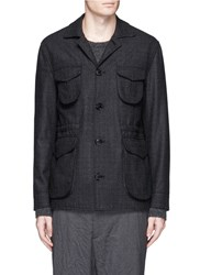 Eidos Wool Cashmere Blend M65 Field Coat Grey