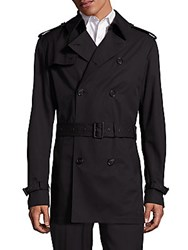 Ralph Lauren Double Breasted Short Trench Coat Polo Black