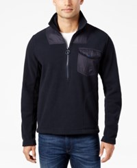 Barbour Men's Fleece Half Zip Pullover Navy