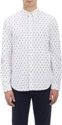 Paul Smith Lightning Bolt Shirt With Elbow Patches White
