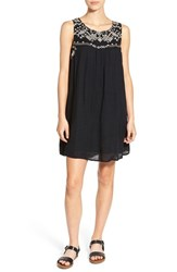 Rip Curl Women's 'Daydream' Embroidered Woven Shift Dress Black