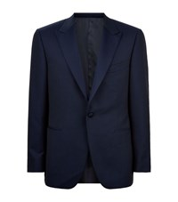 Canali Brocade Smoking Jacket Male Navy