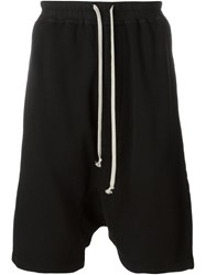 Rick Owens Drkshdw Drop Crotch Track Shorts Black