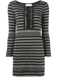 Sonia Rykiel Striped Jersey Dress Green