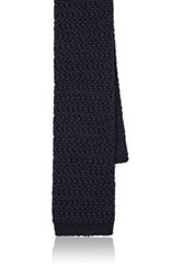 Boglioli Men's Melange Silk Knit Necktie Navy