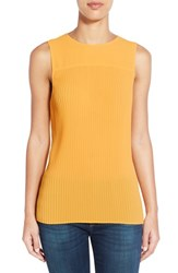 Women's Michael Michael Kors Sleeveless Pleat Top Sunflower