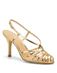 Carmen Marc Valvo Noelle High Heel Sandals Gold