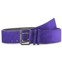 Haider Ackermann Suede Belt Purple