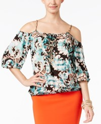 Thalia Sodi Printed Cold Shoulder Blouse Only At Macy's Arabesque