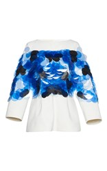 Marni Sequin Long Sleeve Top White