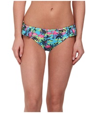 Gabriella Rocha Iris Bikini Brief Green Teal Palm Women's Swimwear