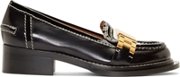 Acne Studios Black Accent Hardware Penny Loafers