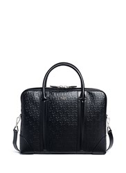 Givenchy 'Lc' Embossed Star And Trident Leather Briefcase Black