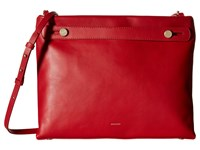 Skagen Mikkeline Satchel Red Satchel Handbags