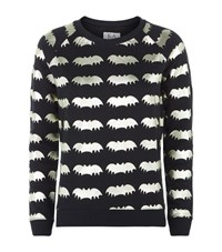 Zoe Karssen Metallic Bat Sweater Female