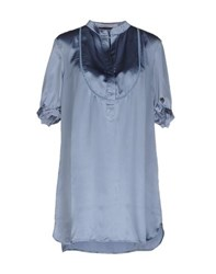 Fairly Shirts Blouses Women Pastel Blue