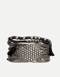Pieces Narcissi Beaded Twist Multipack Bracelets Silver