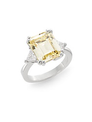 Cz By Kenneth Jay Lane Square Canary Stone Ring