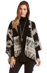 Women's Karen Kane Blanket Stitch Cape