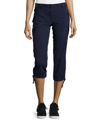 Anatomie Low Rise Cargo Capri Pants Navy